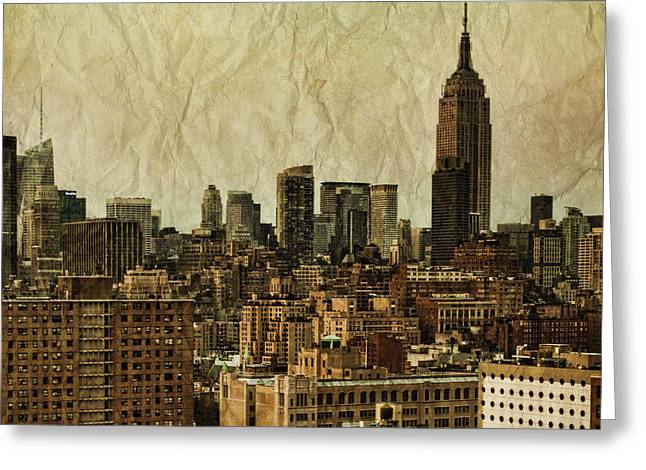 Empire State Building Greeting Cards - Empire Stories Greeting Card by Andrew Paranavitana