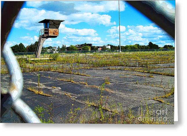 Mj Photographs Greeting Cards - Employee Parking Lot Greeting Card by MJ Olsen