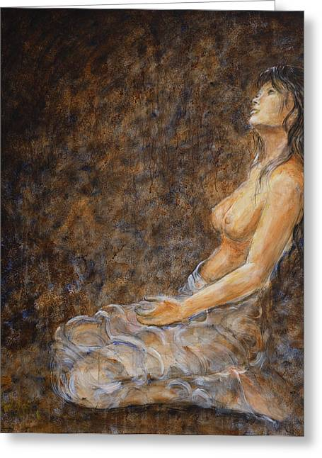 Empower Paintings Greeting Cards - Empower Me Greeting Card by Nik Helbig