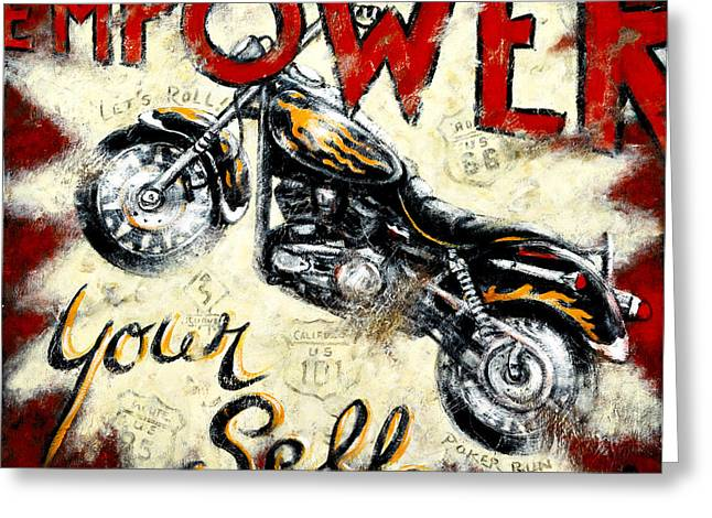 Empower Your Self Greeting Card by Janet  Kruskamp