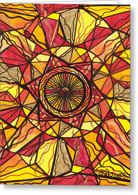 Allopathy Paintings Greeting Cards - Empowerment Greeting Card by Teal Eye  Print Store