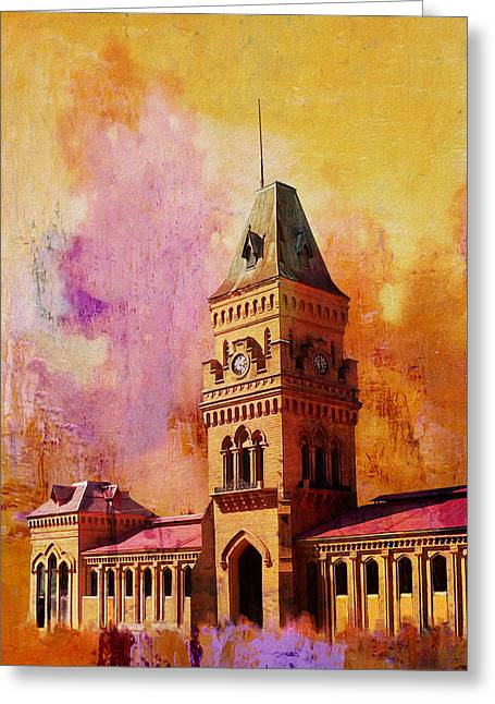 Iqbal Greeting Cards - Empress Market Greeting Card by Catf