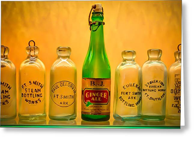 Bottle. Bottling Photographs Greeting Cards - Empties Greeting Card by James Barber