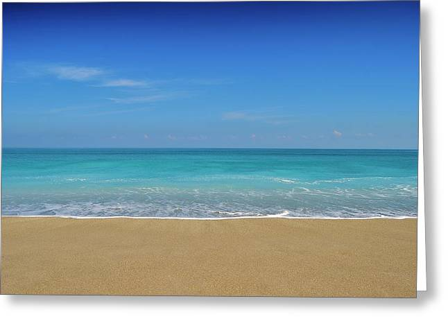 Uncrowded Greeting Cards - Empty Beach Greeting Card by Bo Chambers
