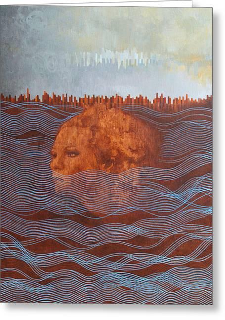Award Winning Art Greeting Cards - Empty Box Greeting Card by Sandra Cohen