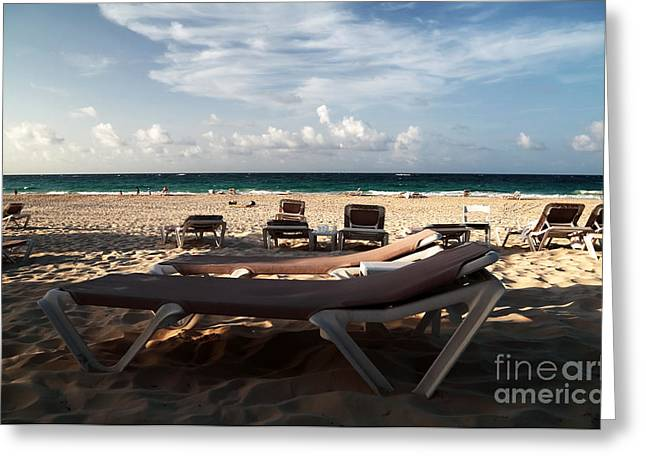 Empty Chairs Greeting Cards - Empty Chair Greeting Card by John Rizzuto
