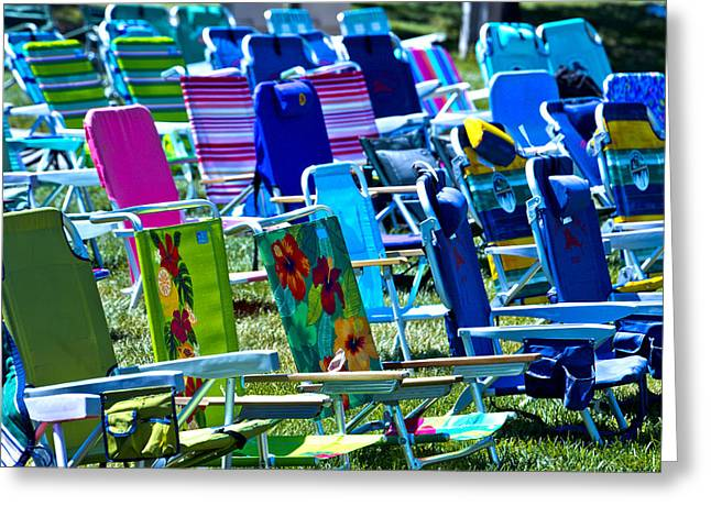 Empty Greeting Cards - Empty Chairs Greeting Card by Garry Gay
