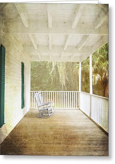 Judy Hall-folde Greeting Cards - Empty Chairs Greeting Card by Judy Hall-Folde
