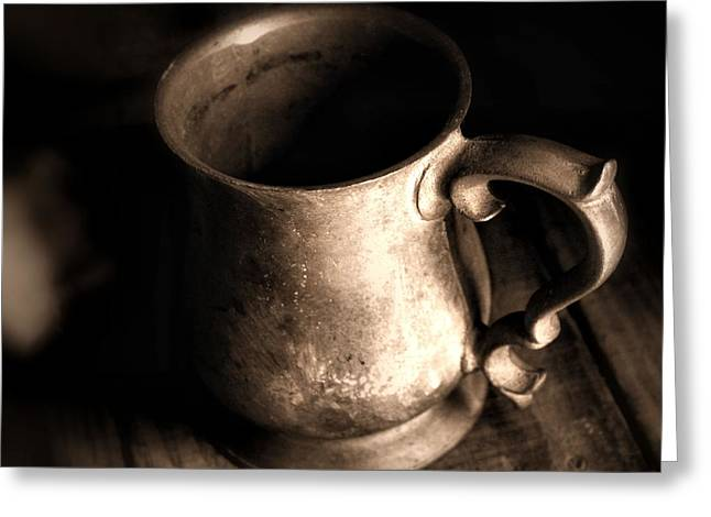 Pewter Mugs Greeting Cards - Empty Greeting Card by Cheryl Frischkorn