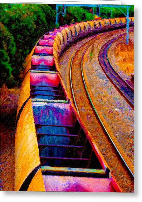 Recently Sold -  - Power Plants Greeting Cards - Empty Coal Hoppers Greeting Card by Chuck Mountain