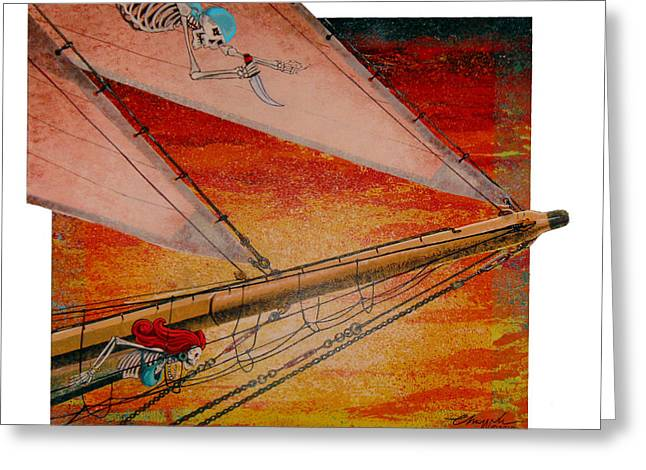 Pirate Ships Greeting Cards - Empty Dreams Greeting Card by David  Chapple