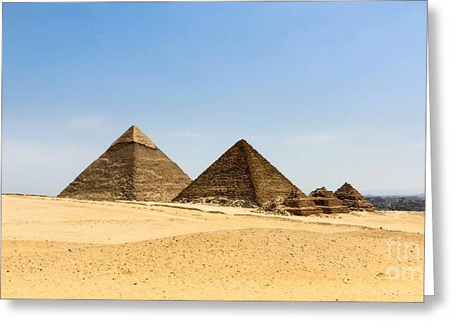 Pyramids Greeting Cards - Empty Egypt Greeting Card by Stephen Allen