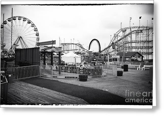 Seaside Heights Greeting Cards - Empty Funtown Greeting Card by John Rizzuto