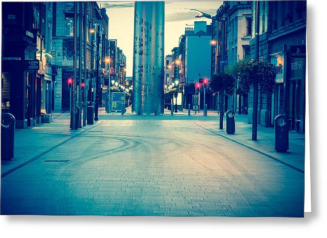 Erection Greeting Cards - Empty Henry St. Greeting Card by Semmick Photo