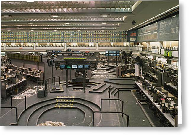 Empty Mercantile Exchange, Chicago Greeting Card by Panoramic Images