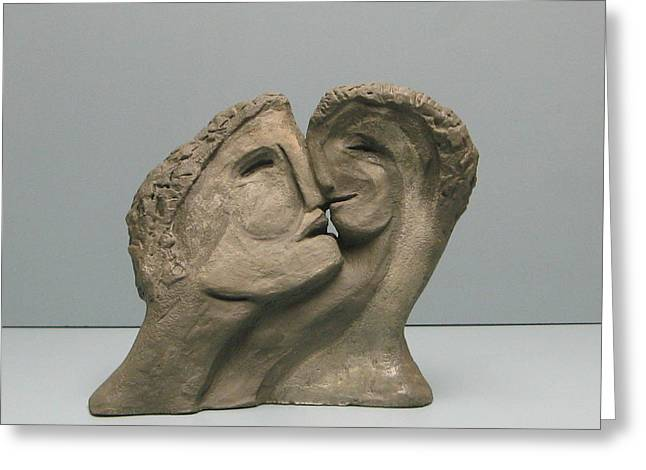 Person Sculptures Greeting Cards - Empty nest is the other side of Family Greeting Card by Nili Tochner