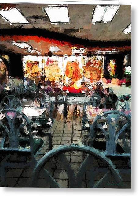 Empty Restaurant Greeting Card by Robert Smith