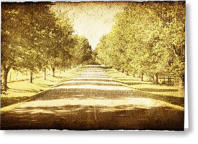 Missing Greeting Cards - Empty Road Greeting Card by Skip Nall