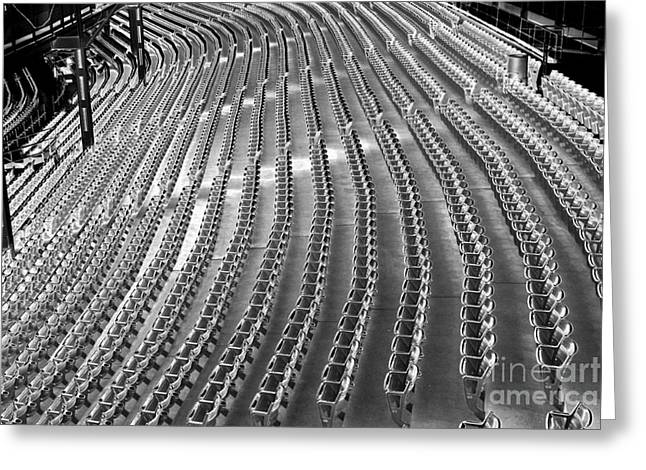 Empty seats at the Cathedral Greeting Card by David Bearden