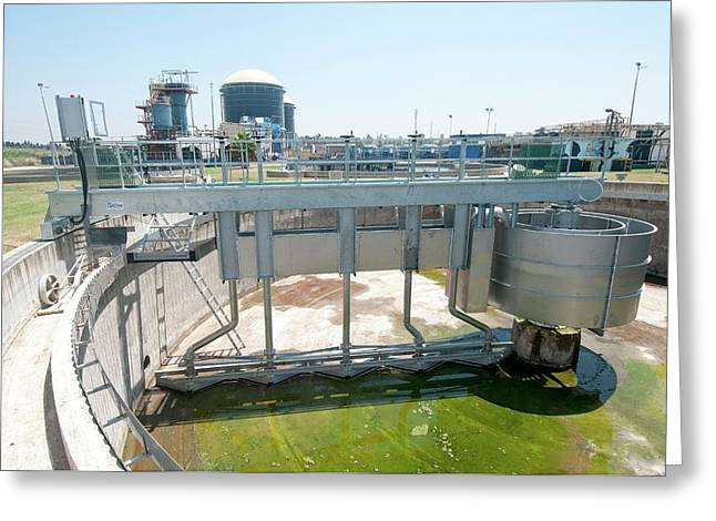 Empty Secondary Clarifier Greeting Card by Photostock-israel