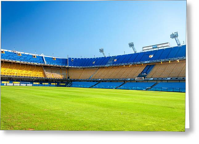 Footie Greeting Cards - Empty Stadium Greeting Card by Jess Kraft