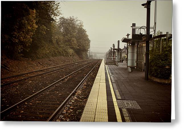 Ron Roberts Photography Greeting Cards Greeting Cards - Empty station Greeting Card by Ron Roberts