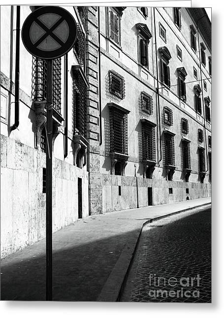 Empty Street Greeting Cards - Empty Street Greeting Card by John Rizzuto