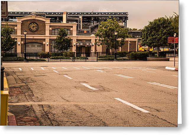 Espn Greeting Cards - Empty Streets Greeting Card by Andrew Delos Santos