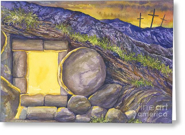 Faith Hope And Love Greeting Cards - Empty Tomb Or Life And Death Greeting Card by Mark Jennings