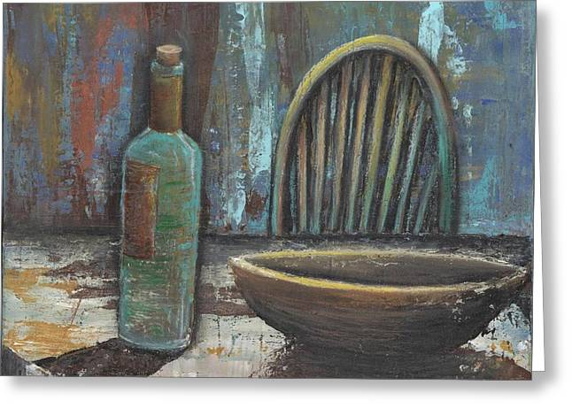 Wooden Bowls Paintings Greeting Cards - Empty Greeting Card by Whitney Tomlin