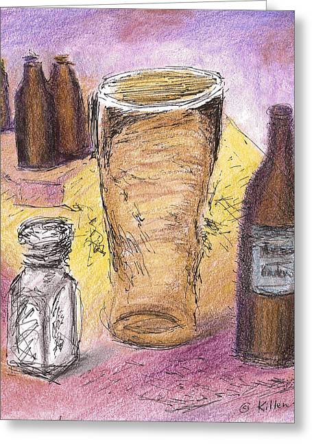 Beer Pastels Greeting Cards - Empty Greeting Card by William Killen