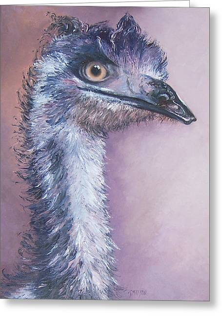 Emu Greeting Cards - Emu by Jan Matson Greeting Card by Jan Matson