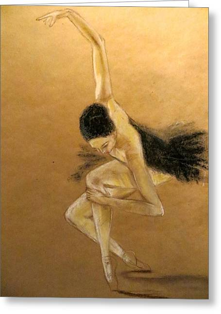Ballet Dancers Greeting Cards - En Pointe Greeting Card by C Pichura