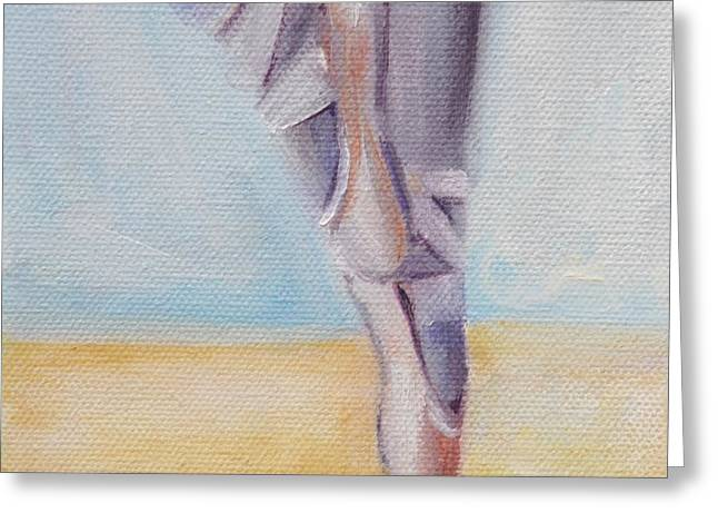 Plies Greeting Cards - En Pointe Greeting Card by Donna Tuten