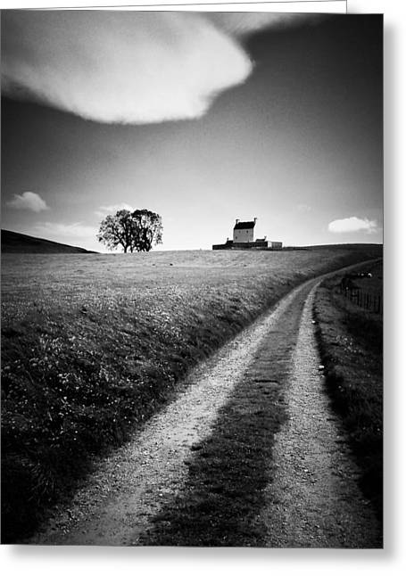 Locations Greeting Cards - En Route to Corgarff Castle Greeting Card by Dave Bowman