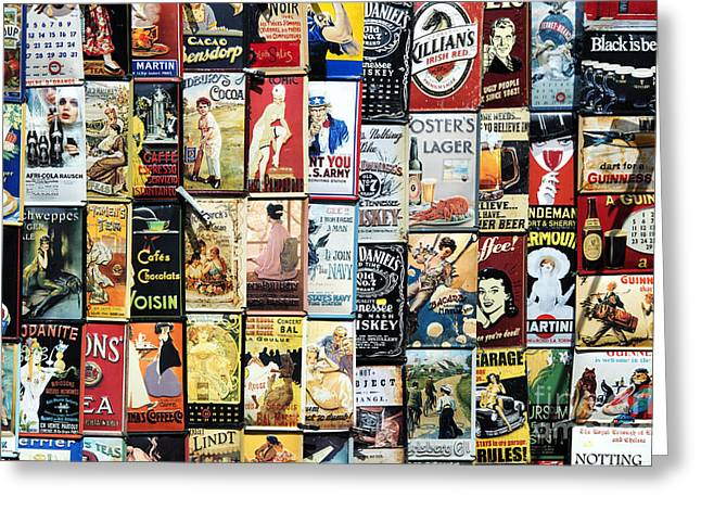 Enamel Greeting Cards - Enamelled Advertising Metal Signs Greeting Card by Tim Gainey