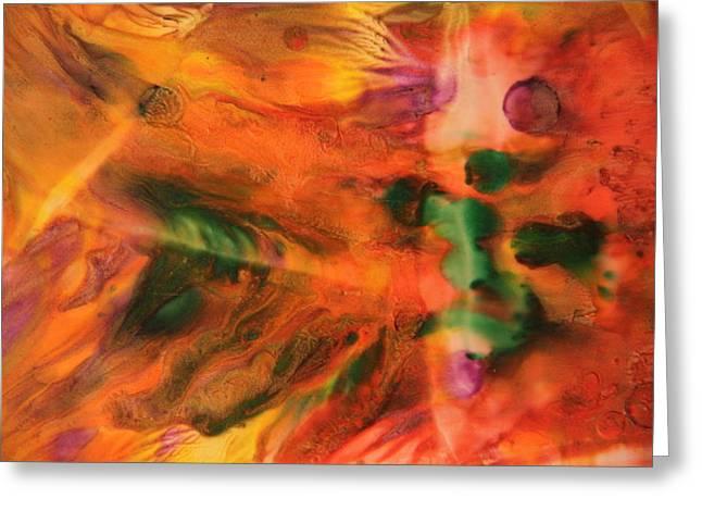 Angel Mermaids Ocean Greeting Cards - Encaustic Art Image 15 Greeting Card by Samira Butt