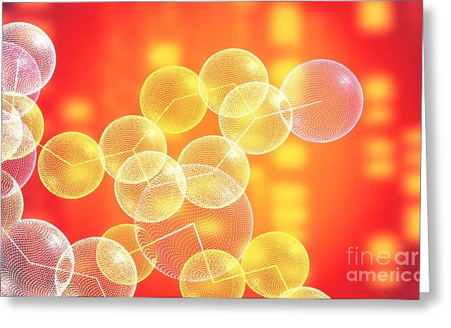 Polypeptide Greeting Cards - Encephalin Greeting Card by Alfred Pasieka