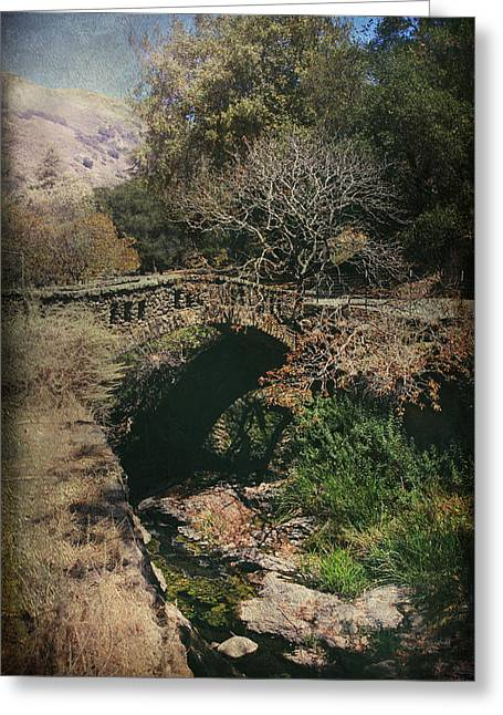 Stone Bridge Greeting Cards - Enchant Me Greeting Card by Laurie Search