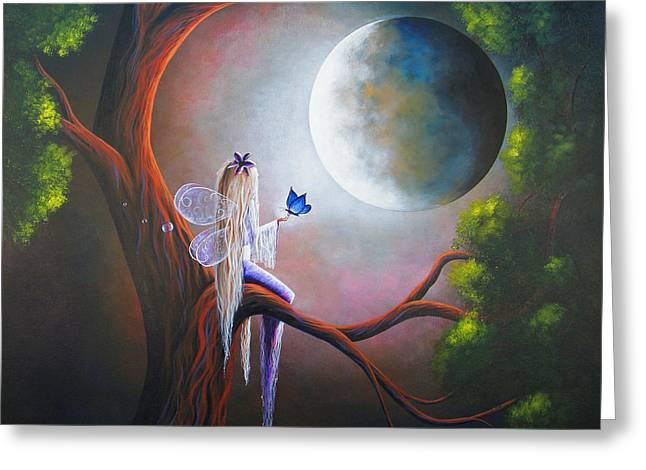 Big Trees Greeting Cards - Original Fairy Artwork by Shawna Erback Greeting Card by Shawna Erback