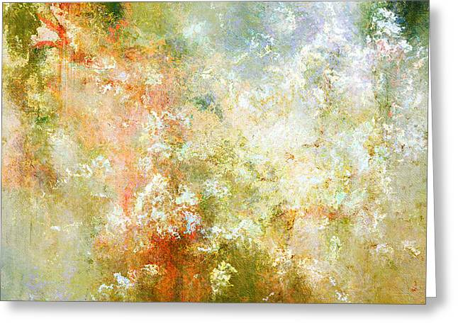 Cherry Blossoms Mixed Media Greeting Cards - Enchanted Blossoms - Abstract Art Greeting Card by Jaison Cianelli
