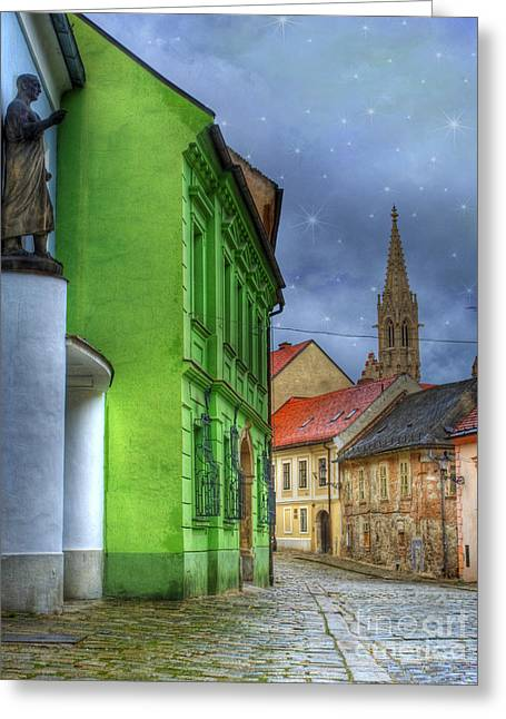 Charming Town Greeting Cards - Enchanted. Bratislava Greeting Card by Juli Scalzi