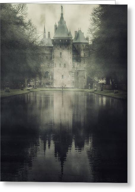 Moat Greeting Cards - Enchanted Castle Greeting Card by Joana Kruse