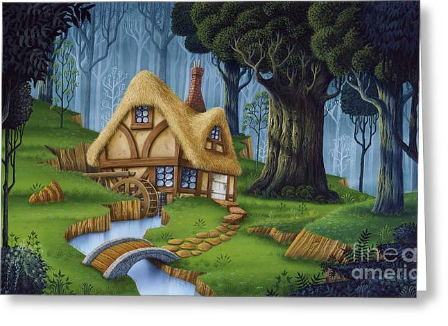 Phil Wilson Greeting Cards - Enchanted Cottage Greeting Card by Phil Wilson