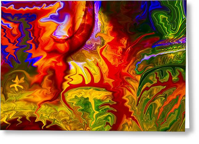 Methow Valley Greeting Cards - Enchanted Forest Fire Greeting Card by Omaste Witkowski