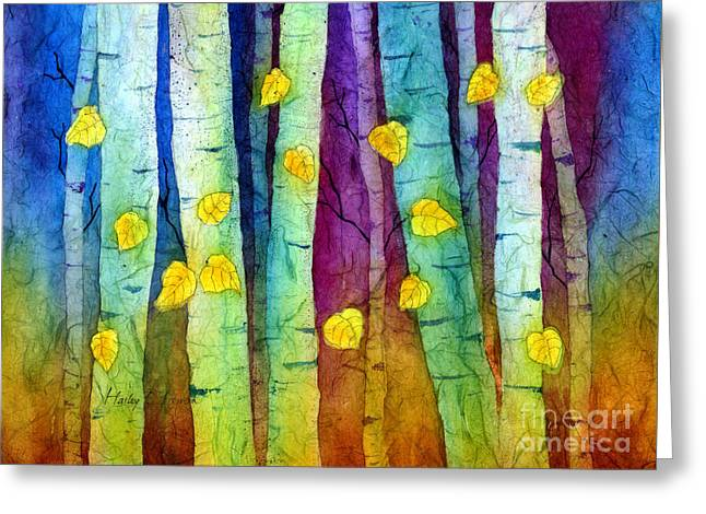 Trees Forest Paintings Greeting Cards - Enchanted Forest Greeting Card by Hailey E Herrera