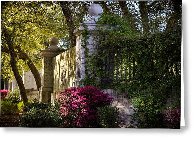 Antebellum Greeting Cards - GARDEN of LOVE Greeting Card by Karen Wiles