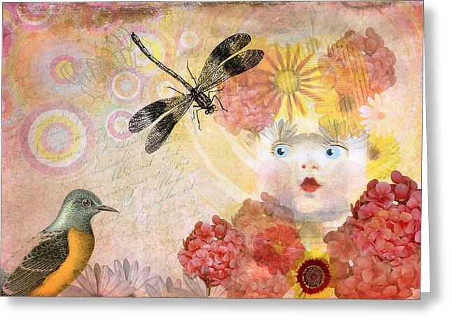 Quite Digital Art Greeting Cards - Enchanted Garden Greeting Card by Terry Fleckney