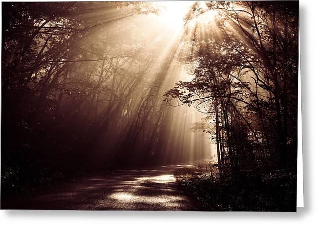 Enchanted Light Greeting Card by Todd Klassy