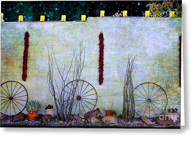 Las Cruces New Mexico Digital Art Greeting Cards - Enchanted New Mexico Evening Greeting Card by Barbara Chichester